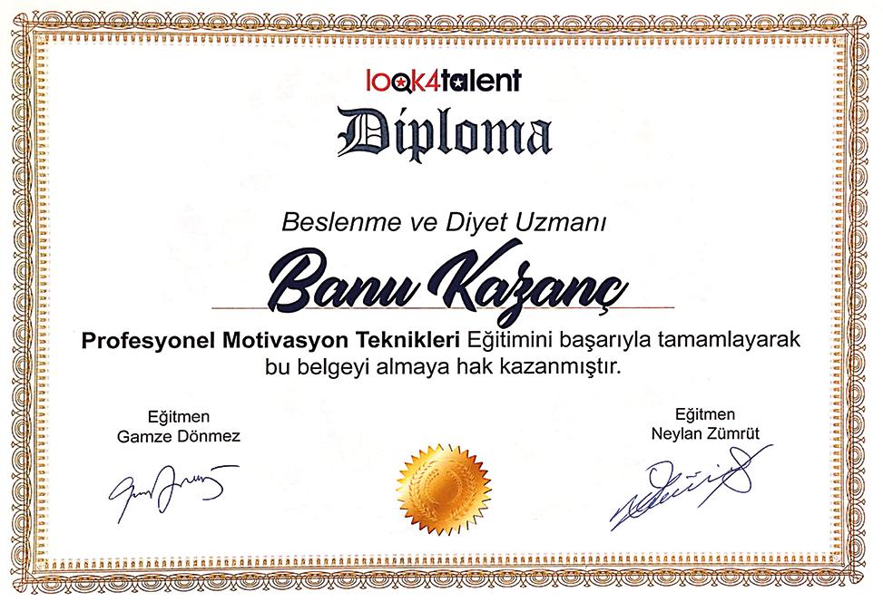 Banu Kazanç Diploma